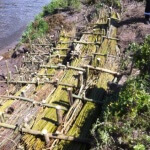 Repairs to the river bank