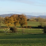 View of the Cotswolds from Elmore